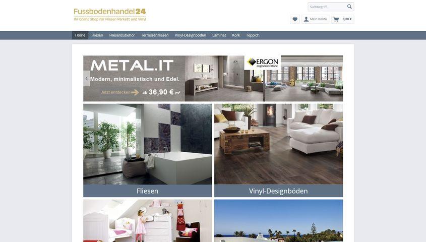 OnlineShop Fussbodenhandel Delta Media - Fliesen online handel