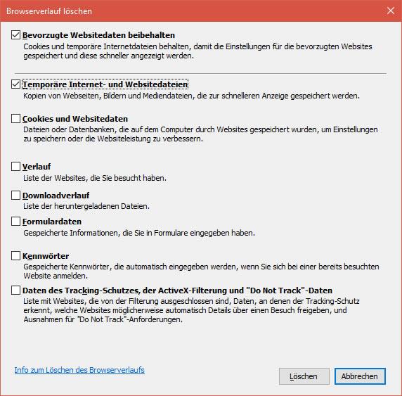 Cache Leeren Internet Explorer 9